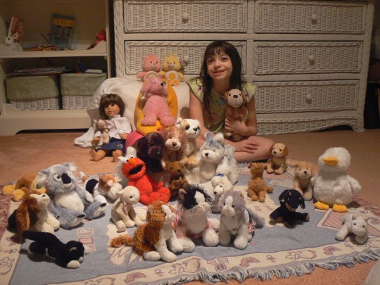Amy and her Webkinz and other friends