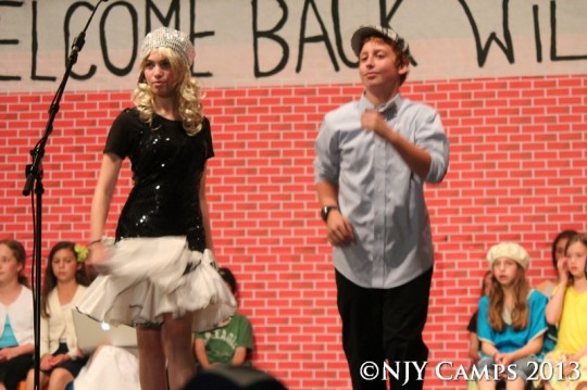 "Amy as Sharpay along with ""Ryan"""